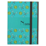 Personalized name turquoise tennis balls case for iPad air