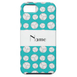 Personalized name turquoise volleyball balls iPhone 5 cases