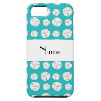 Personalized name turquoise volleyball balls iPhone SE/5/5s case