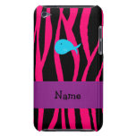Personalized name turquoise whale pink zebra iPod touch cases