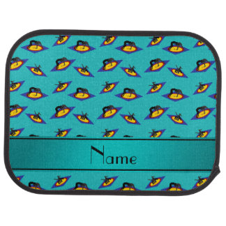 Personalized name turquoise wrestlers on mat