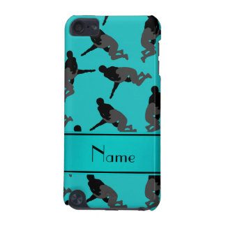 Personalized name turquoise wrestling iPod touch 5G covers