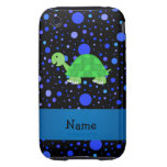 Personalized name turtle blue polka dots iPhone 3 tough covers