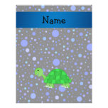 Personalized name turtle blue polka dots custom flyer