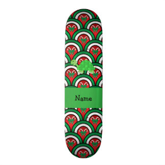 Personalized name turtle candy canes bows skateboard decks