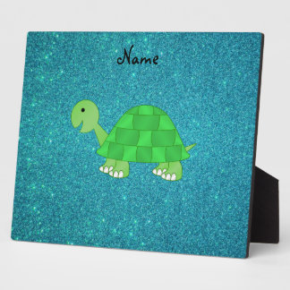 Personalized name turtle plaque