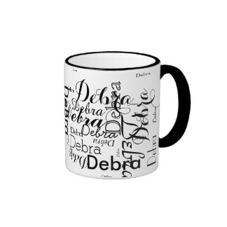 personalized Name typography Ringer Mug