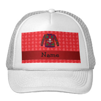 Personalized name ugly christmas sweater trucker hat