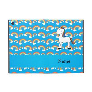 Personalized name unicorn blue rainbows cases for iPad mini