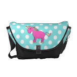 Personalized name unicorn courier bags
