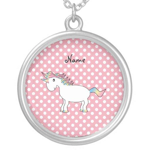 Personalized name unicorn custom jewelry