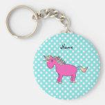 Personalized name unicorn keychains