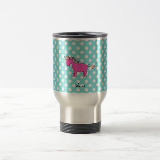 Personalized name unicorn mug