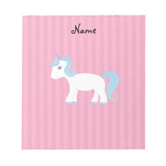 Personalized name unicorn memo notepads