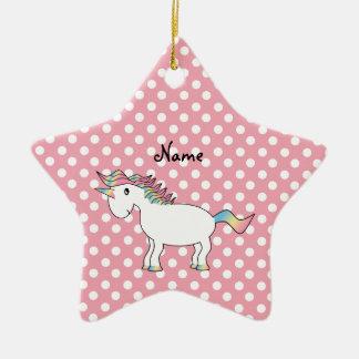 Personalized name unicorn ornament