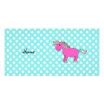 Personalized name unicorn personalized photo card
