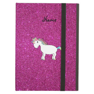 Personalized name unicorn pink glitter case for iPad air