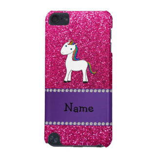Personalized name unicorn pink glitter iPod touch (5th generation) cover