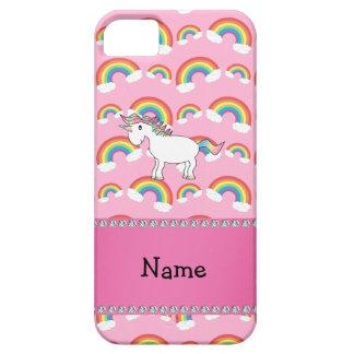 Personalized name unicorn pink rainbows iPhone SE/5/5s case