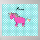 Personalized name unicorn poster