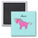 Personalized name unicorn refrigerator magnet