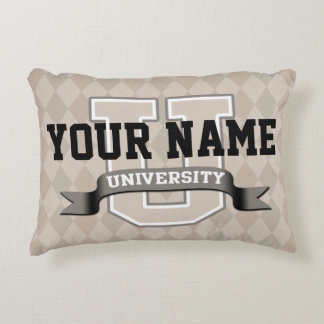Personalized Name University Cool Funny College Accent Pillow