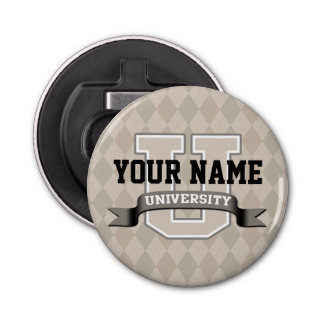 Personalized Name University Cool Funny College Bottle Opener