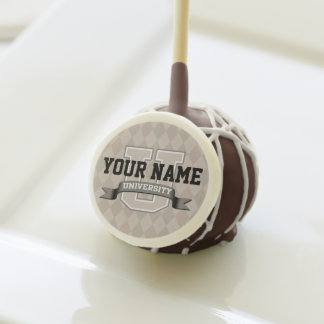 Personalized Name University Cool Funny College Cake Pops