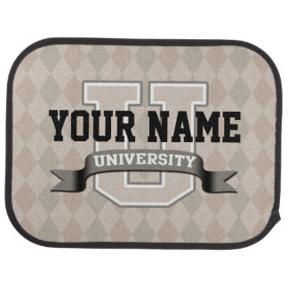 Personalized Name University Cool Funny College Car Mat