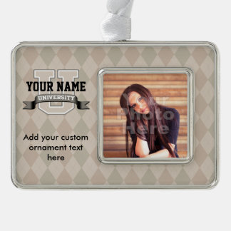 Personalized Name University Cool Funny College Christmas Ornament