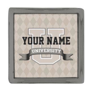 Personalized Name University Cool Funny College Gunmetal Finish Lapel Pin