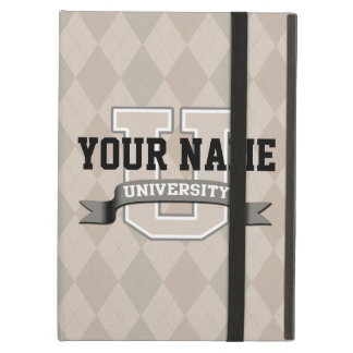 Personalized Name University Cool Funny College iPad Air Cover
