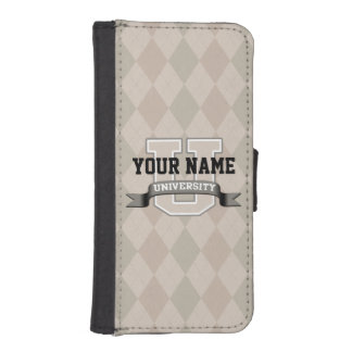Personalized Name University Cool Funny College iPhone SE/5/5s Wallet Case