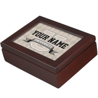 Personalized Name University Cool Funny College Keepsake Box