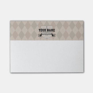 Personalized Name University Cool Funny College Post-it® Notes