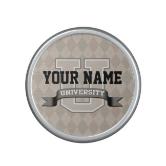 Personalized Name University Cool Funny College Speaker