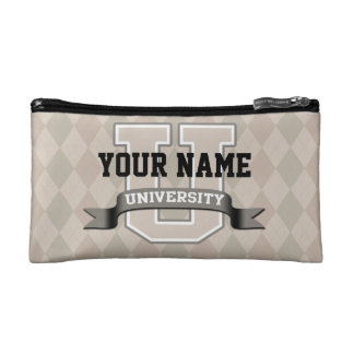 Personalized Name University Cool Funny Family Cosmetic Bag