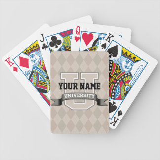 Personalized Name University Cool Funny Family Bicycle Playing Cards