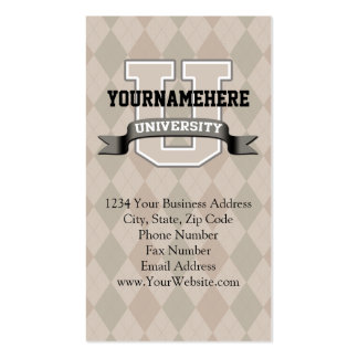 Personalized Name University Cool Funny Family Business Card