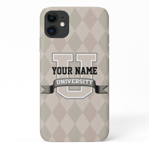 Personalized Name University Cool Funny Family iPhone 11 Case