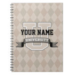 Personalized Name University Cool Funny Family Notebooks