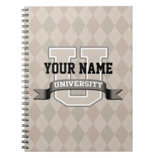Personalized Name University Cool Funny Family Spiral Notebook