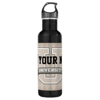 Personalized Name University Cool Funny Family Stainless Steel Water Bottle