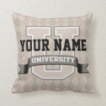 Personalized Name University Cool Funny Family Throw Pillow