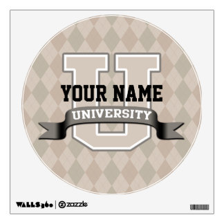 Personalized Name University Cool Funny Family Wall Sticker