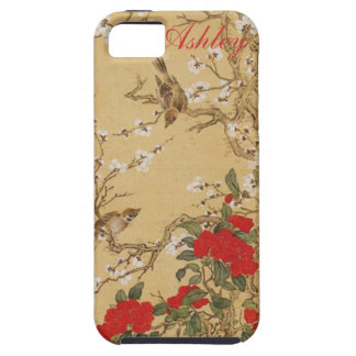 Personalized Name Vintage Birds and Flowers iPhone SE/5/5s Case