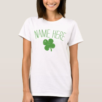 Personalized Name Vintage Shamrock St Patricks Day T-Shirt