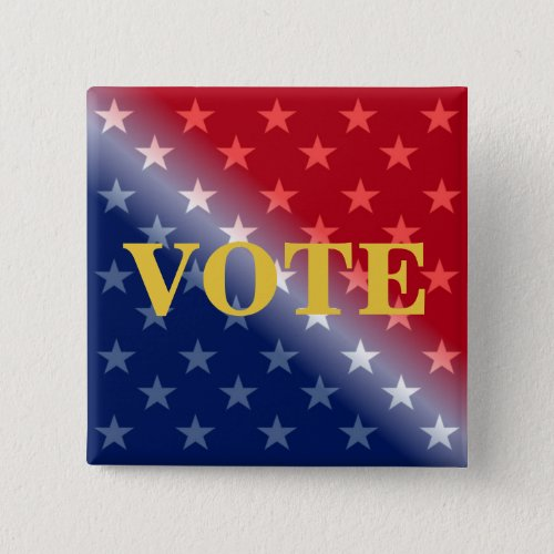 Personalized Name Vote Voter Custom Pinback Button