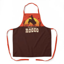 Personalized NAME Western Cowboy Bull Rider Rodeo Apron