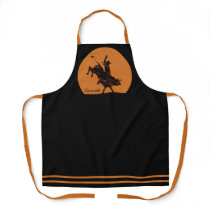 Personalized NAME Western Rodeo Bull Rider Cowboy Apron